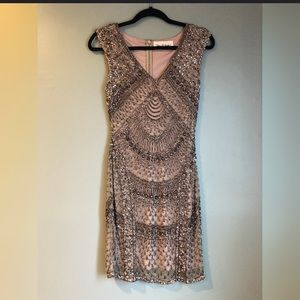 Purple Sequence Party Dress